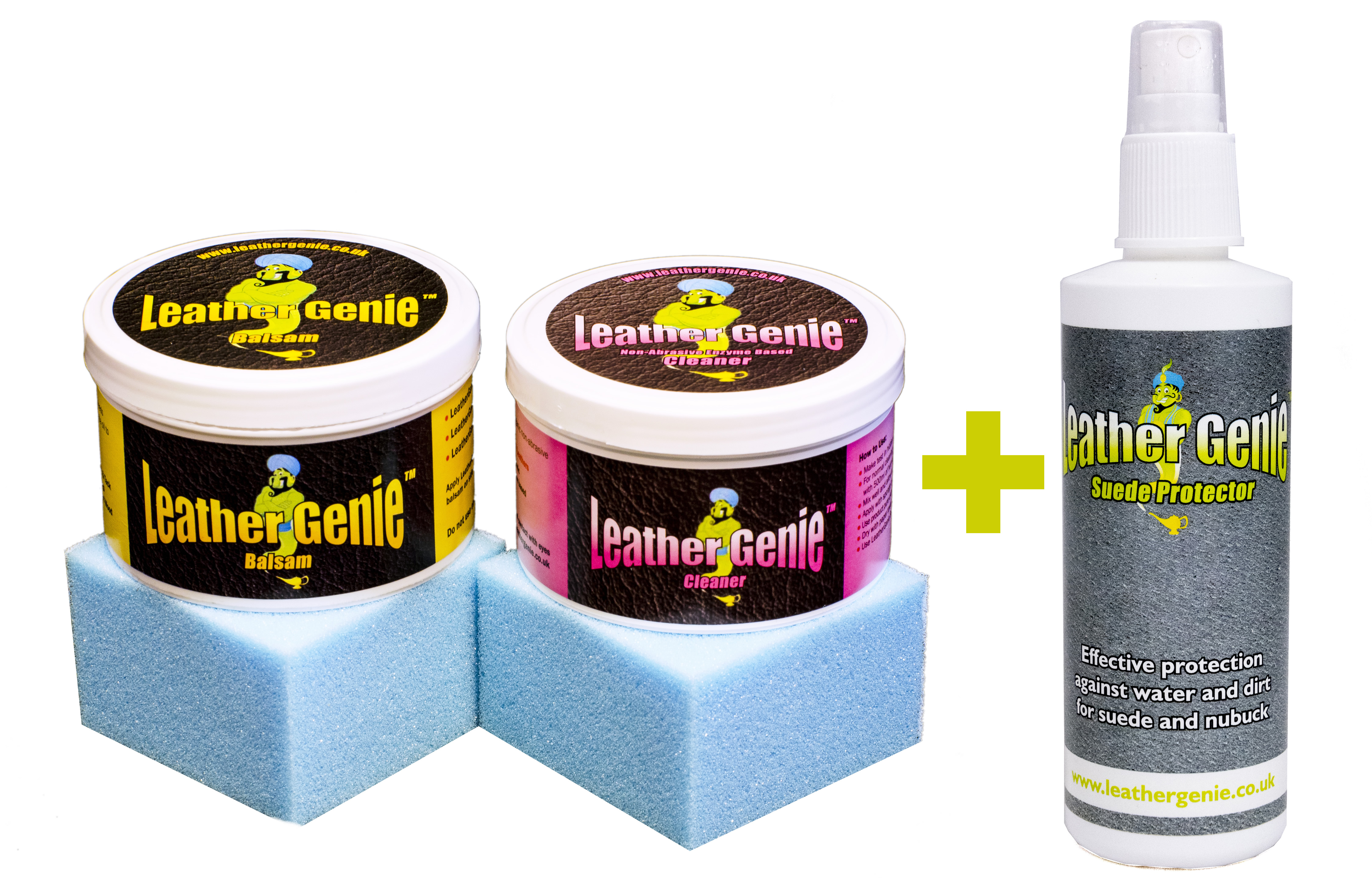 Total Leather Care Kit By Leather Genie Leather Conditioner And Cleaner