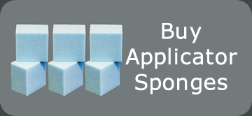 Application sponges for leather cleaner and leather feed